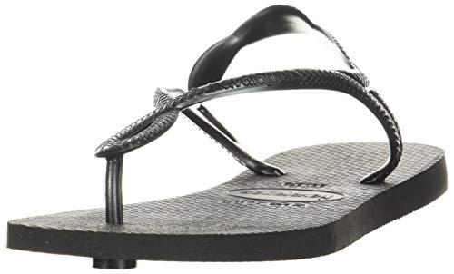 Havaianas Women's Luna Flip Flop Sandal, Black, 9/10 M US