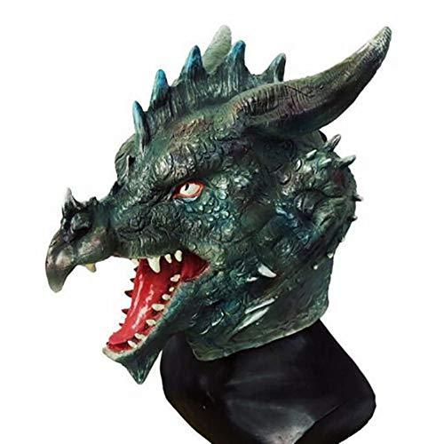 AAWFUL Drache/Huhn Kopf Maske Latex Tier Party Kostüme Theater Halloween Schule Schaufensterpuppe Cosplay