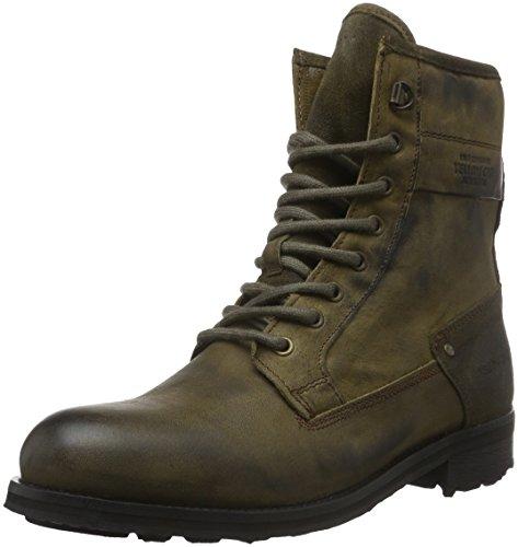 Yellow Cab Herren Guard M Biker Boots, Grün (Moss), 45