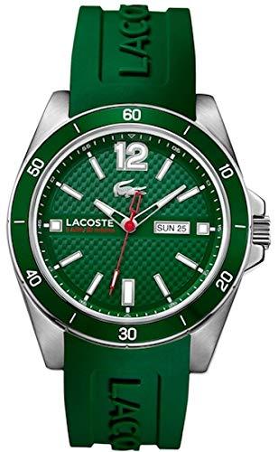Lacoste 2010800 - Reloj de Pulsera Hombre, Silicona, Color Verde
