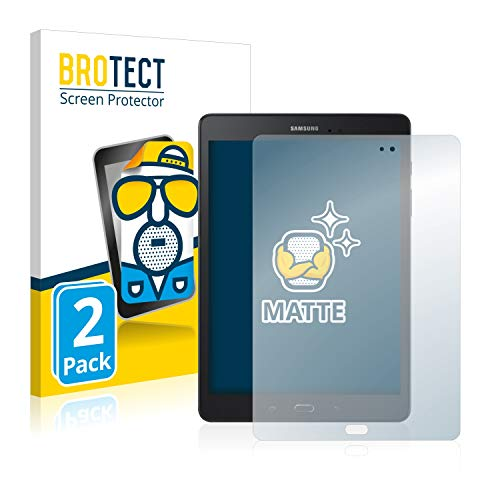 BROTECT 2X Entspiegelungs-Schutzfolie kompatibel mit Samsung Galaxy Tab A 9.7 Bildschirmschutz-Folie Matt, Anti-Reflex, Anti-Fingerprint