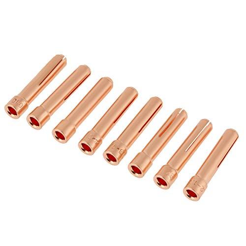 Kit de soldadura, clip de electrodo de lente de gas de soldadura...