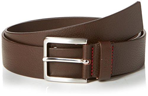 HUGO Gionios_sz40 Cinturón, Marrón (Dark Brown 202), 110 (Talla del fabricante: 95|#95|#675) para Hombre