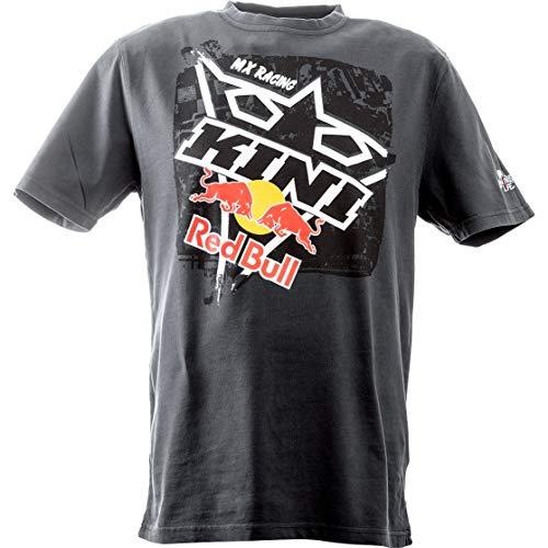KINI Red Bull Square Tee – Sportliches Herren T-Shirt mit Printmotiv, Kurzarm, Rundhals, Bequem, Freizeit, 100% Baumwolle, Standard Fit - Night Sky