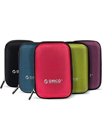 ORICO Custodia Hard Disk Externo Disco Protettiva per Rigido 2,5 Pollici - HDD Hard Disk Externo Portatile Western Digital WD Seagate Toshiba Samsung Maxtor (5 Colori Installare)
