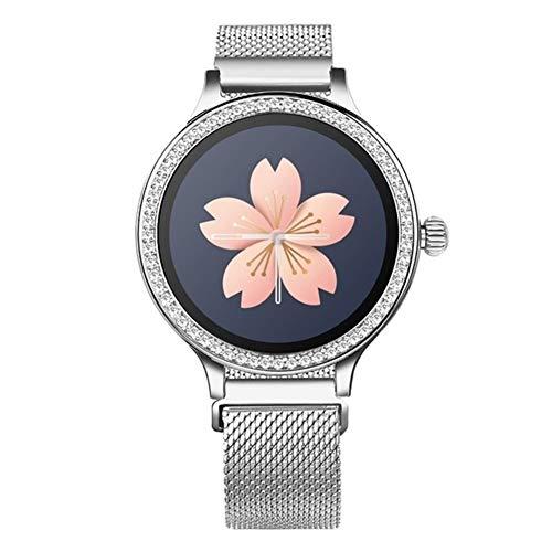 xingyu - Reloj inteligente impermeable para mujer M8 Smart Watch IP68 Lady Smart Band Monitor de ritmo cardíaco Fitness Tracker pulsera smartwatch Android Ios (color: metal plateado)