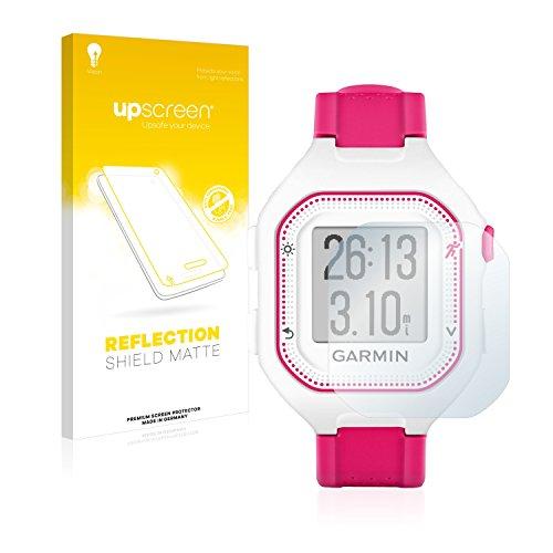 upscreen Entspiegelungs-Schutzfolie kompatibel mit Garmin Forerunner 25 (Small Edition) – Anti-Reflex Bildschirmschutz-Folie Matt