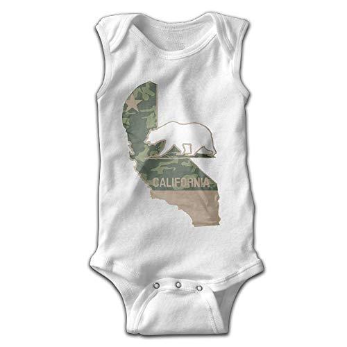 SDGSS Ropa para bebés Bodysuits Baby Onesie Girl Boy Outfit Baby Bodysuit Jumpsuit Creeper Sleeveless Military California Polar Bear