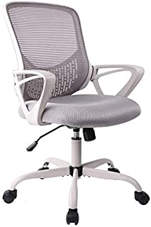 Office Chair, Ergonomic Desk Chair Computer Task Chair Mesh with Armrests Mid-Back for Home Office Conference Study Room, Gray