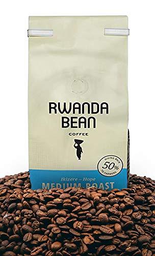 Rwanda Bean: Ikizere Hope Premium Coffee Beans (MEDIUM ROAST) Direct Trade - Keto Coffee - Organic Coffee - All Natural Coffee - Kosher Coffee - Whole Bean Coffee - Healthy Caffeine (12oz)
