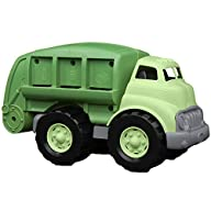 Green Toys Recycling Truck in Green Color - BPA Free, Phthalates Free Garbage Truck for Improving Gross Motor, Fine Motor Skills. Kids Play Vehicles Side Profile