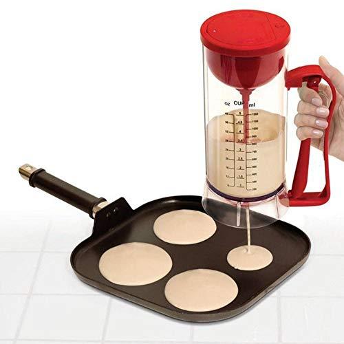 LIUXING Cupcake Maker Platz Drahtlose Elektrische Backen-Wannen-Kuchen-Schalen-Kuchen Waffelteig Mixer Wasserspender Haushalt Kleine Waffeleisen (Farbe : Rot, Größe : Einheitsgröße)