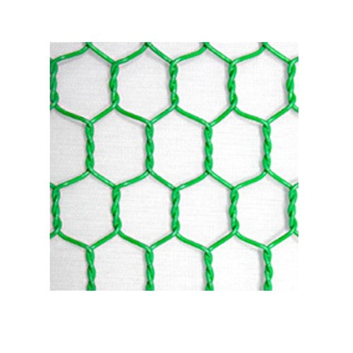 アクチュエータ鎮痛剤麻痺ビニール亀甲金網 (緑) 線径番18 線径1.15mm 目合16mm 幅910mm×長さ30m 【光洋金網】 代引不可