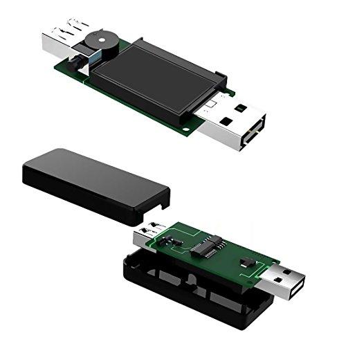 『USB電流電圧テスター チェッカー 5V-30V/0-5.1A 急速充電QC2.0/QC3.0/MTK-PE/iphone2.4Aなど対応 積算機能・VA同時表示 電池残量測定ストレート型 ブラック「1年保証」』の7枚目の画像