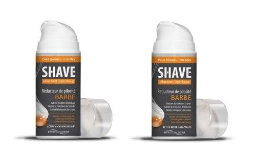 Shave - Réducteur de pilosité pour barbe - 150ml (2 flacons)