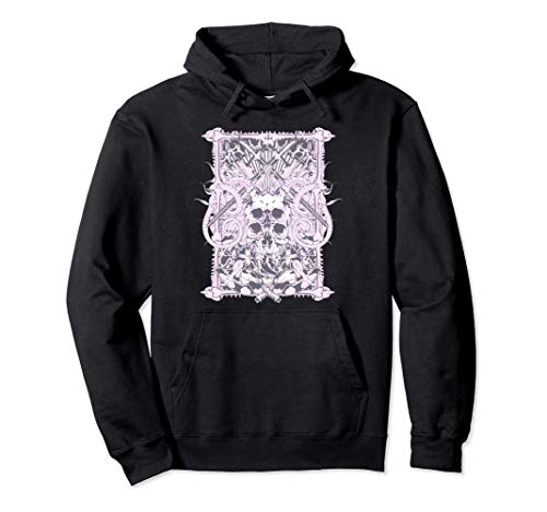 Pastell Goth Metal Harajuku Kawaii Schädel Knochen & Hörner Pullover Hoodie