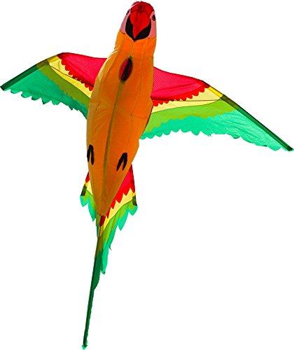 HQ 106514 - Parrot 3D Einleiner, ab 8 Jahren, 110x118cm, inkl. 17kp Polyesterschnur 40m auf Spule, 2-4 Beaufort