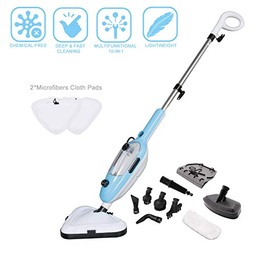 YONG-YI Unknown Mop Cleaner 10-in-1 with Convenient Detachable Handheld Unit, for Hardwood Carpet Tile and Laminate Floor, Multifunctional Household Cleaning Machine, Blue