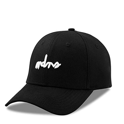 Sombrero de Verano Marca de Marea Europea y Americana Gorras de ala Curva Hombres y Mujeres Coreanos Gorra de béisbol Negra de Todo fósforo