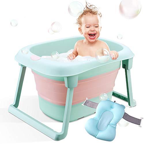 Bañera de bebé, bañera infantil plegable, soporte de baño portátil plegable para recién nacido, Por 1-5 años