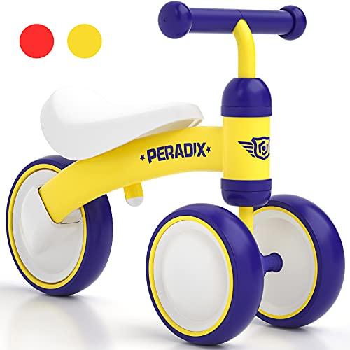 PeradixBicicleta Niño, Correpasillos Bebe Adecuado para Niños de 1,2,3 Años, Bicicleta sin Pedales para los Niñas y Niños, Triciclo Bebe que Es Ideal Regalo Original Bebes y Niños (Amarillo)