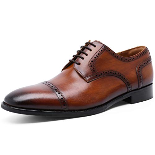 [フォクスセンス] ビジネスシューズ 本革 ストレートチップ 革靴 紳士靴 ウイングチップ メンズ ドレスシューズ ブラウン 26.5CM 892101-02