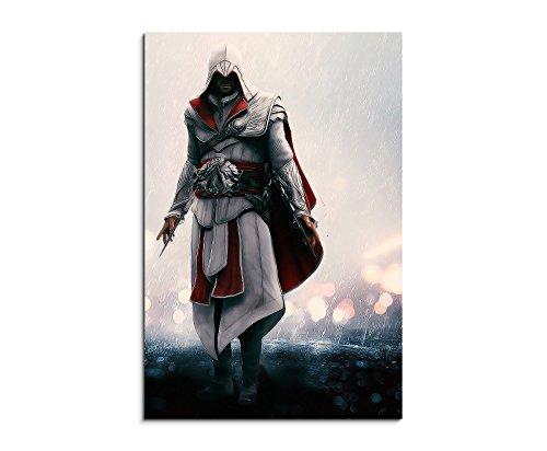 Gaming Bild 7 90x60cm Bild als schoener Kunstdruck auf echter Leinwand als Wandbild auf Keilrahmen