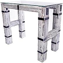 CHYRKA Stół do jadalni, stół do salonu, wysoka loft, vintage, bar, industrialny design, DROHOBYCZ-biały, ręcznie wykonany ...