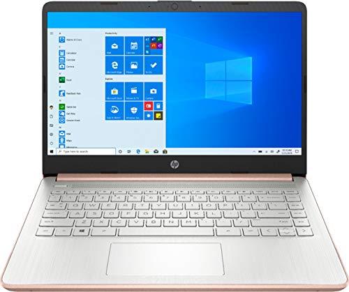 "HP 14"" HD (1366 x 768) BrightView Micro-Edge Laptop, Intel Celeron N4020, 4GB DDR4, 64GB eMMC, WiFi, Bluetooth, Webcam, USB 3.1 Type C, HDMI, Media Card Reader, Windows 10 S, 64GB ABYS MicroSD Card"