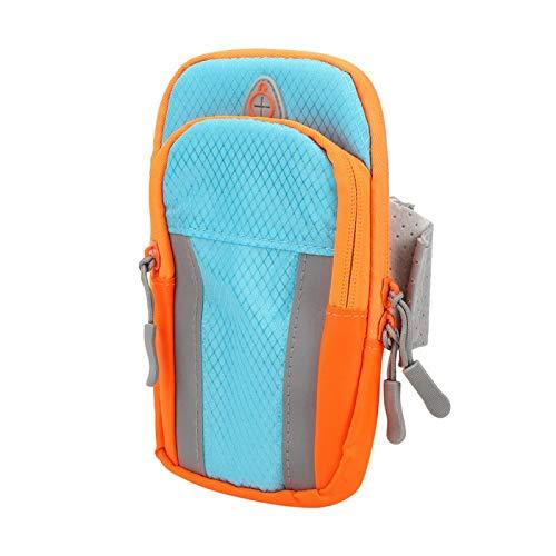 SALUTUYA Paquete de Brazos para Deportes al Aire Libre Práctico con Orificio para Auriculares Diseño de Gancho y Bucle Bolsas de Brazo Impermeables, para Correr(Sports Arm Bag)