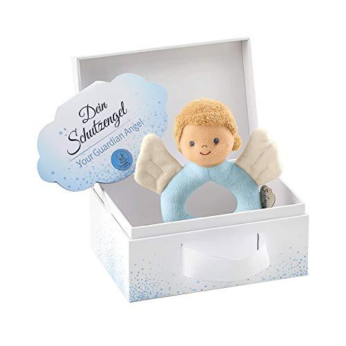 Sterntaler 3301895 Greifling Schutzengel für Jungen, Alter: 0-36 Monate, Größe: 14 cm, Farbe: Blau
