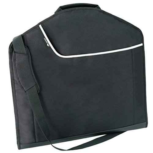Alpamayo® Business Kleidertasche, Anzugtasche für knitterfreie Anzüge auf Reise, Kleidersack für den Transport im Koffer, Trolley oder Handgepäck, schwarz