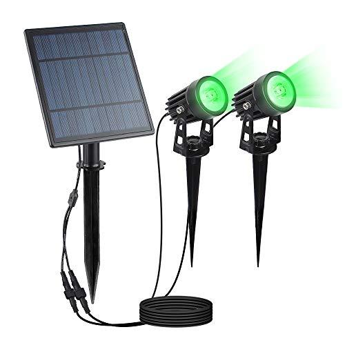 No-Branded WUFAJINWU La luz Solar Panel Solar 2 Lámparas de Split Verde Extensible al Aire Libre Spotlight Grado del Paisaje del jardín Impermeable (Color : Verde, Size : One Size)