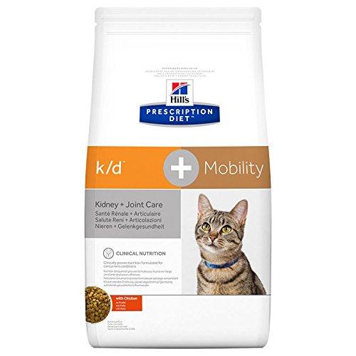 Hill's Hills Prescription Diet Katzenfutter mit Huhn 2 kg für Katzen mit Arthrose oder Niereninsuffizienz