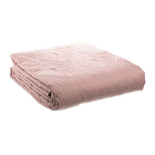 Colcha bouti Acolchada Rosa clásica de Microfibra para Cama de 150 cm - LOLAhome