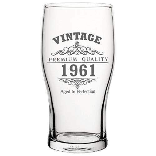 Vintage 1961 - Vaso de cerveza de tulipán para 60 cumpleaños