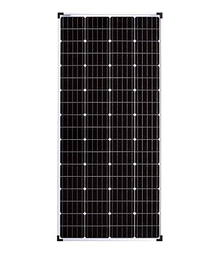 enjoy solar® Monokristallin 36V Solarmodul Solarpanel ideal für 24V Garten Wohnmobil Caravan PV Anlage (Mono 180W 36V)