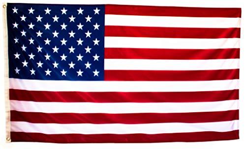Bandera de Estados Unidos Grande de Tela Fuerte, Bandera Americana Exterior 150x90 cm Ideal Para Decoración