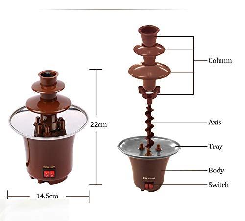 3 Lagen Mini Chocoladefonteinen Fondue Waterfall Maker Machine Thuis Event Wedding Party verjaardagstentoonstelling EU/VS