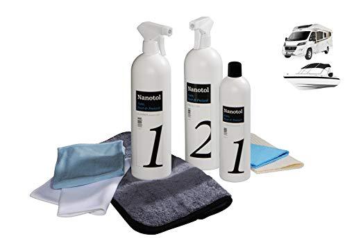 Nanotol Premium Nanoversiegelung/Keramikversiegelung Autopflege Set XL (reicht für 160 m² oder 8 Autos, Boot, Wohnwagen)