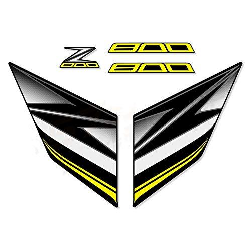 Pegatina Motocicleta Completo Vehículo Calcomanía para Kawasaki Z800 13-14-15-16 Z 800 2013-2014-2015-2016 Calcomanías de los calcomanías completos (Color : Yellow)