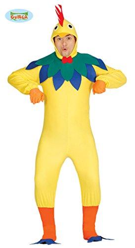 Guirca- Costume da Gallo, Colore Giallo, Taglia única, 84355