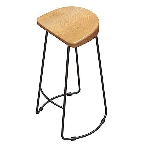JIEER-C slaapkamer barkruk barmeubel barkruk massief houten stoel keukenkruk eenvoud metalen poot opslaggewicht 150 kg zithoogte 65 cm