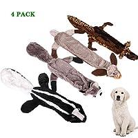 犬きしむおもちゃ、退屈のためのインタラクティブぬいぐるみフォックス犬のおもちゃは、かわいいきしむ犬チューのおもちゃ子犬、小、中、大ブリード用
