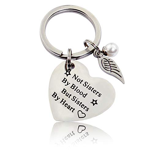 Bester Freund Schlüsselanhänger Nicht Schwestern von Blut, sondern Schwestern von Herzen Schlüsselbund Geburtstags Freundschaft Geschenk BFF Schlüsselanhänger