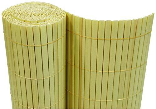 Dynamic24 PVC Sichtschutzmatte 90x500 cm Bambus Balkon Sichtschutz Zaun Windschutz