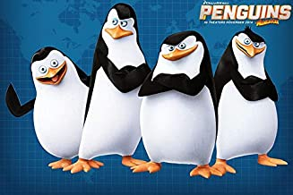 36inch x 24inch/90cm x 60cm Penguins Of Madagascar The Silk Poster Christmas Gift For Family Best Gift For Children