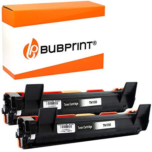 2 Bubprint XXL Toner kompatibel für Brother TN-1050 für DCP-1510 DCP-1510E DCP-1512 DCP-1512E DCP-1610W DCP-1612W HL-1110 HL-1110E HL-1112 HL-1210W HL-1211W HL-1212W MFC-1810 MFC-1910W Schwarz