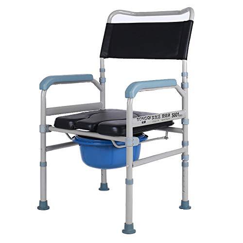 Baño Silla Embarazada Mujer Discapacitado Móvil Baño Silla de Ruedas Casa Cuidado Bañera Silla Fácil a Limpiar/Negro / 51.5x41x103.5cm