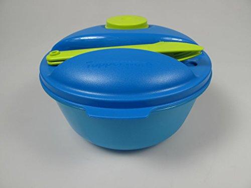 Tupperware to Go Salat&Go blau Limette 1,5L A157 Salat & Go mit Besteck Picknick MIT Geschenk 6012